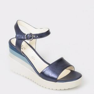 Sandale STONEFLY bleumarin, Ely7, din piele naturala