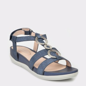 Sandale STONEFLY bleumarin, Eve16, din piele naturala