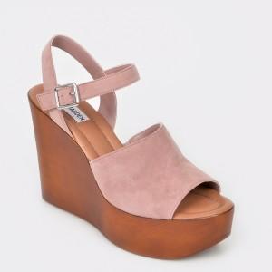 Sandale STEVE MADDEN nude, Bellini, din piele intoarsa