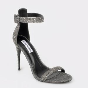 Sandale STEVE MADDEN argintii, Mischa, din piele ecologica