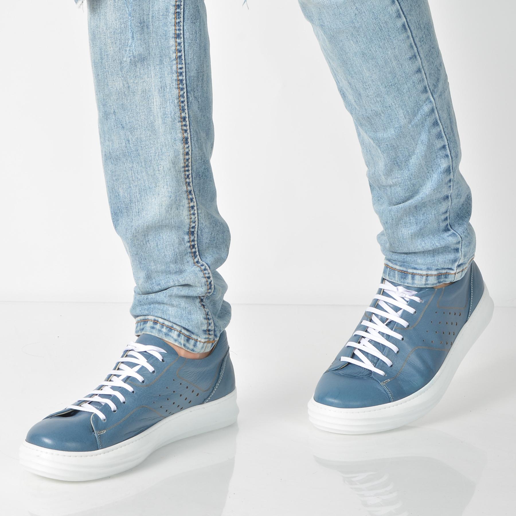 Pantofi Gryxx Albastri, 13401, Din Piele Naturala