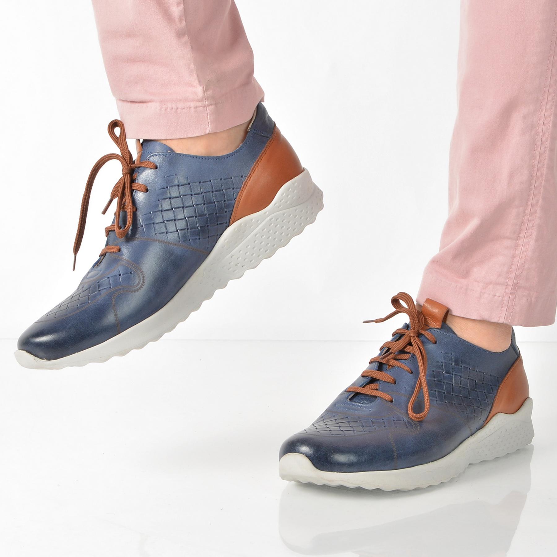 Pantofi GRYXX bleumarin, 13503, din piele naturala