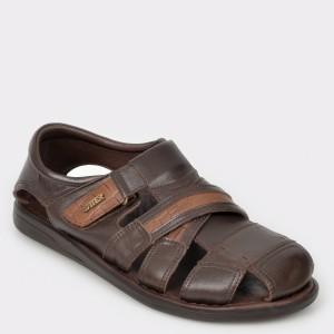 Sandale OTTER maro, 17400, din piele naturala