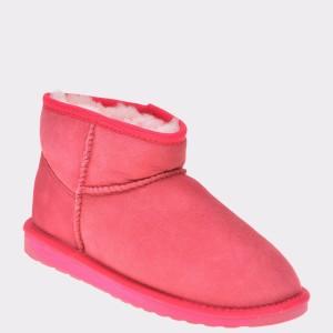Ghete EMU roz, W10937, din piele intoarsa