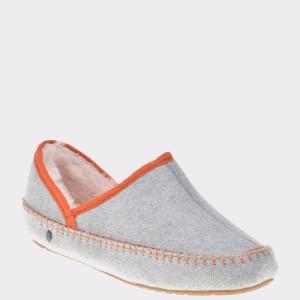 Papuci De Casa, Pentru Copii Emu Gri, K11855, Din Lana