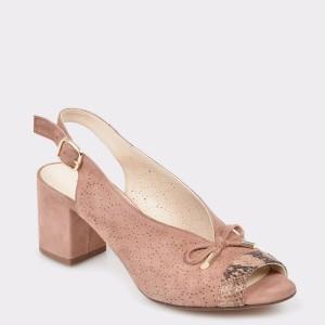 Sandale FLAVIA PASSINI nude, 924, din piele intoarsa