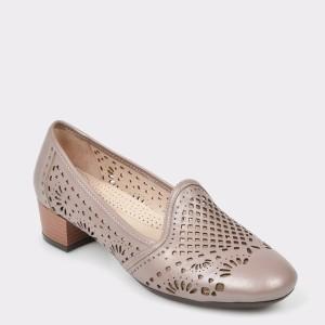 Pantofi Flavia Passini Gri, 518, Din Piele Naturala