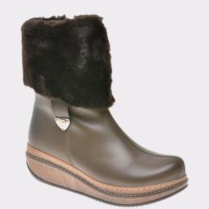 Cizme FLAVIA PASSINI kaki, Pm880, din piele naturala