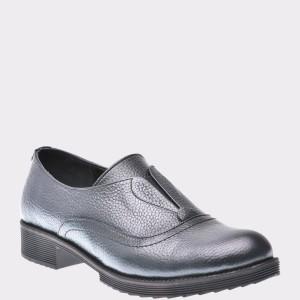 Pantofi Flavia Passini Gri, Or849, Din Piele Naturala