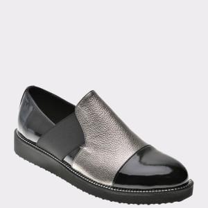Pantofi Flavia Passini Negri, Zk402, Din Piele Naturala