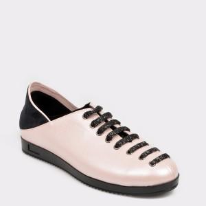 Pantofi FLAVIA PASSINI nude, Bl3184, din piele naturala si material textil
