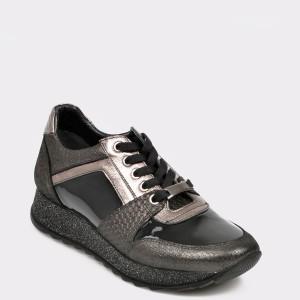 Pantofi sport FLAVIA PASSINI negri, Ys8807, din piele naturala lacuita