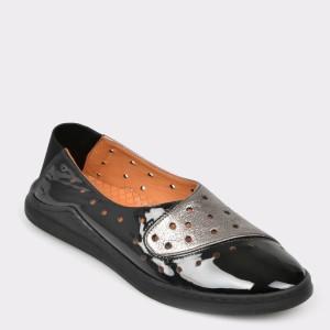 Pantofi FLAVIA PASSINI negri, Vn2017, din piele naturala lacuita