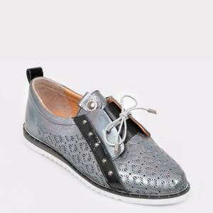 Pantofi FLAVIA PASSINI albastri, Mh3003, din piele naturala