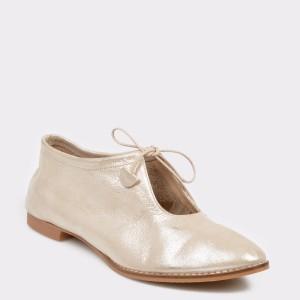 Pantofi FLAVIA PASSINI aurii, Dl659, din piele naturala