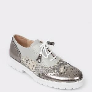 Pantofi FLAVIA PASSINI argintii, Sm2187, din piele naturala