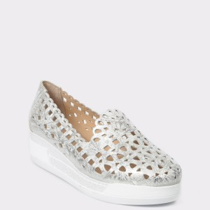 Pantofi FLAVIA PASSINI argintii, 1, din piele naturala