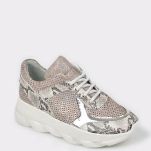 Pantofi sport FLAVIA PASSINI nude, Df225, din piele naturala
