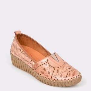 Pantofi FLAVIA PASSINI nude, Fl330, din piele naturala