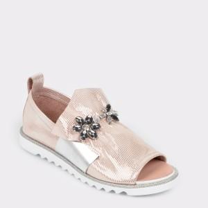 Pantofi FLAVIA PASSINI nude, Tp81012, din piele naturala