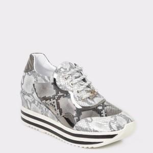 Pantofi sport FLAVIA PASSINI gri, Nb097, din piele ecologica