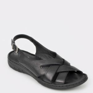 Sandale FLAVIA PASSINI negre, 817, din piele naturala