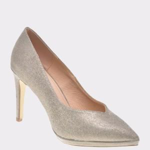 Pantofi MENBUR argintii, 98570, din piele ecologica