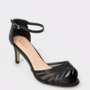 Sandale EPICA negre, 20239, din piele ecologica