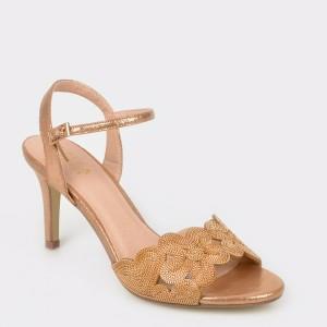 Sandale EPICA aurii, 20293, din piele ecologica
