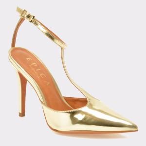 Pantofi EPICA aurii, Mi142, din piele ecologica