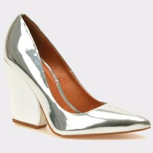 Pantofi Epica Argintii, Mi203, Din Piele Ecologica