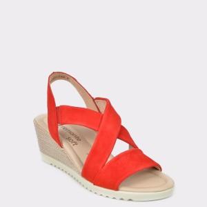 Sandale REMONTE rosii, D3446, din piele intoarsa