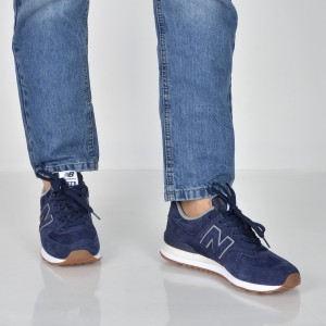 Pantofi sport NEW BALANCE bleumarin, Ml574, din piele intoarsa