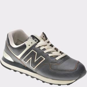 Pantofi sport NEW BALANCE negri, Ml574, din piele naturala