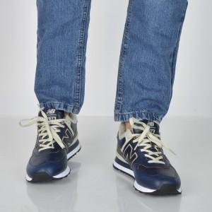 Pantofi sport NEW BALANCE bleumarin, Ml574, din piele naturala