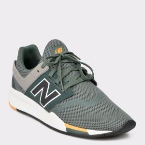 Pantofi NEW BALANCE verzi, Ms247, din piele ecologica
