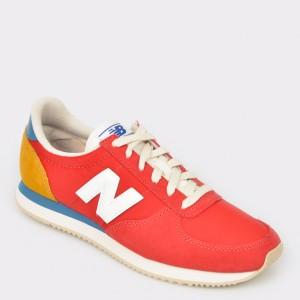 Pantofi sport NEW BALANCE rosii, U220, din material textil