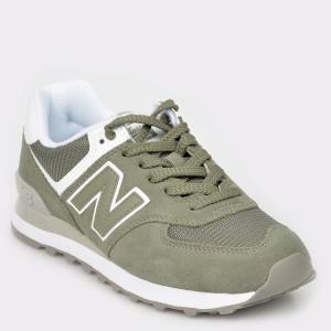 Pantofi sport NEW BALANCE verzi, Wl574, din material textil