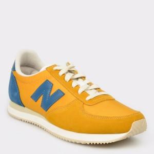 Pantofi sport NEW BALANCE galbeni, U220, din material textil