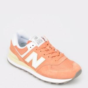 Pantofi sport NEW BALANCE portocalii, Wl574, din material textil