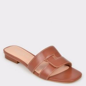 Papuci EPICA maro, 74564, din piele naturala
