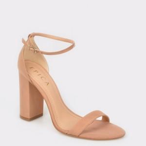 Sandale EPICA nude, 620200, din nabuc