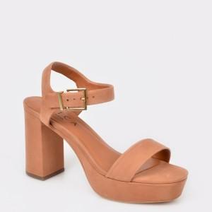 Sandale EPICA maro, 3040055, din nabuc