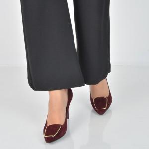 Pantofi EPICA visinii, E0379A, din piele intoarsa