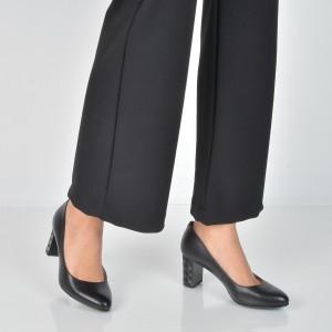 Pantofi EPICA negri, E1050A, din piele naturala