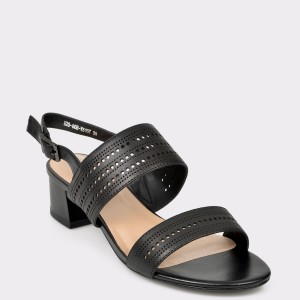 Sandale FLAVIA PASSINI negre, E2060H, din piele naturala