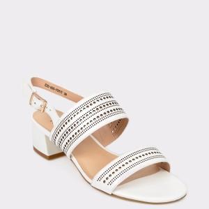 Sandale FLAVIA PASSINI albe, E2060H, din piele naturala
