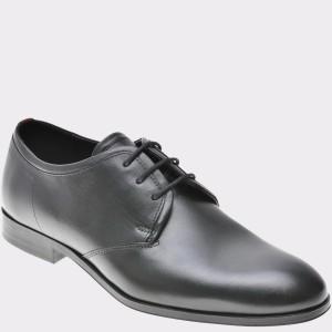 Pantofi HUGO BOSS negri, 9437, din piele naturala