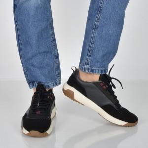 Pantofi sport HUGO BOSS negri, 6670, din piele naturala