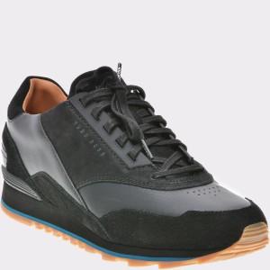 Pantofi HUGO BOSS negri, 6709, din piele naturala